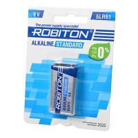 Щелочная батарейка Robiton Alkaline Standard Крона 9V, 6LR61 9V BL1