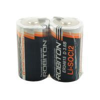 Специальная литиевая батарейка Li-SOCl2 Robiton ER34615 D с лепестковыми выводами 19000 мАч 3,6В 2шт