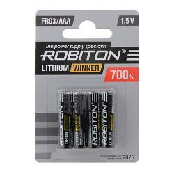 Литиевая батарейка Robiton Lithium Winner AAA 4шт R-FR03-BL4