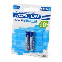 Щелочная батарейка Robiton Alkaline Standard AAA 2 шт LR03 BL2