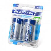 Щелочная батарейка Robiton Alkaline Standard D 2шт LR20 BL2