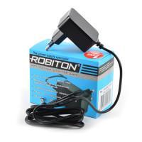 Сетевой импульсный блок питания 500мА 9В 4.5Вт Robiton IR9-500S отрицательная полярность (угловой штекер 12х5,5х2,5 мм)