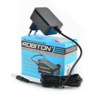 Сетевой импульсный блок питания 1А 12В 12Вт Robiton IR12-1000S положительная полярность 1А штекер 12х5,5х2,5 мм