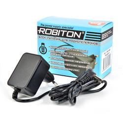 Сетевой импульсный блок питания 500мА 6.5В для радиотелефонов Robiton ID6,5-500S положительная полярность (угловой штекер 15х4,8х1,7 мм)