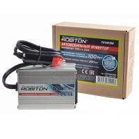 Инвертор преобразователь напряжения автомобильный 12-220В ROBITON CN100USB 100Вт модифицированный синус выход 1 розетка и USB