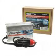 Инвертор автомобильный 12-220В ROBITON CN200USB 200Вт с выходом USB на 1 розетку модифицированная синусоида