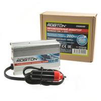 Инвертор преобразователь напряжения автомобильный 12-220В ROBITON CN200USB 200Вт модифицированный синус выход 1 розетка и USB