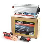 Инвертор автомобильный 12-220В ROBITON CN550W 550Вт на 1 розетку модифицированная синусоида