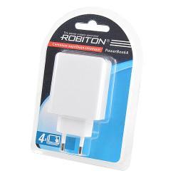 Блок питания USB на 4 порта Robiton PowerBox6A (белый) 1шт