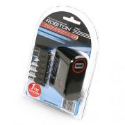 Блок питания автомобильный импульсный универсальный Robiton K3000S 3000мА 3*4,5*5*6*7,5*9,5*12 В (+/-) 8 штекеров