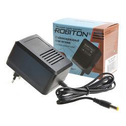 Блок питания трансформаторный стабилизированный Robiton AB12-500S 12В положительная полярность 500мА 12х5,5х2,1мм