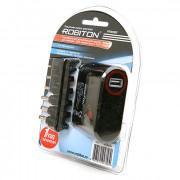 Блок питания автомобильный импульсный универсальный Robiton PN3000S 3000мА 3*4,5*5*6*7,5*9,5*12 В (+/-) 6 штекеров