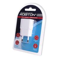 Сетевой блок питания ROBITON USB1000 white 1000мАч 100-240В