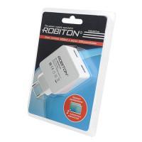 Сетевой блок питания ROBITON USB2400-TWIN на 2 USB выхода 2400мАч 100-240В