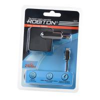 Блок питания для iPhone, iPad, iPod USB - Apple 8pin (Lightning) Robiton 2400мА черный