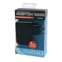 Блок питания USBx4 Robiton 5В 4900мА черный