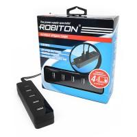 Блок питания USBx4 Robiton 5В 2000мА черный