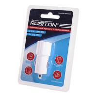 Автомобильное зарядное устройство на 2 USB выхода ROBITON TwinUSB1000-Auto 12-24В