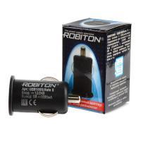 Автомобильное зарядное устройство ROBITON USB1000-Auto-S 12-24В