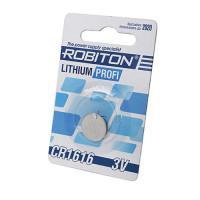 Дисковая литиевая батарейка Robiton CR1616, Li-MnO2, 1шт