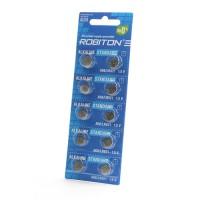 Дисковые батарейки для часов Robiton AG6, LR921, Zn-MnO2, 10шт