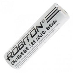 Аккумулятор LiFePO4 литий железофосфатный Li-Ion Robiton 14500 600мАч 3,2мАч