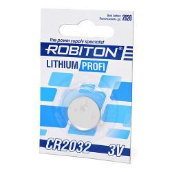 Дисковая литиевая батарейка Robiton CR2032, Li-MnO2, 1шт
