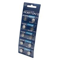 Дисковые батарейки для часов Robiton AG7, LR927, Zn-MnO2, 10шт