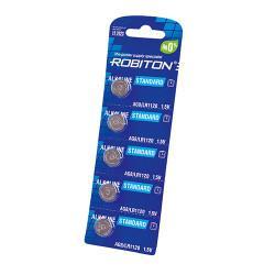 Щелочные дисковые батарейки Robiton AG8 LR1120 391 1,5В для часов 5шт