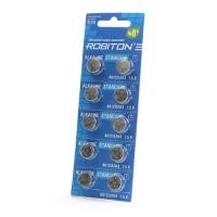 Дисковые батарейки для часов Robiton AG12, LR43, Zn-MnO2, 10шт