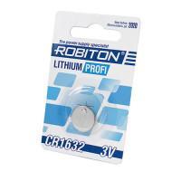 Дисковая литиевая батарейка Robiton CR1632, Li-MnO2, 1шт