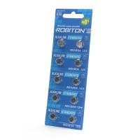 Дисковые батарейки для часов Robiton AG2, LR726, Zn-MnO2, 10шт