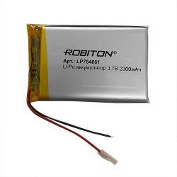 Аккумулятор литий-полимерный Li-Pol Robiton LP 754061 3,7В 2300мАч