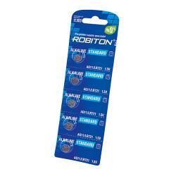 Щелочные дисковые батарейки Robiton AG11 LR721 362 1,5В для часов 5шт