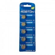 Батарейки алкалиновые Robiton AG10 LR1130 389 1,5В дисковая 5шт
