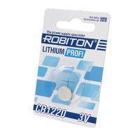 Дисковая литиевая батарейка Robiton CR1220, Li-MnO2, 1шт