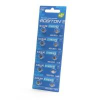 Дисковые батарейки для часов Robiton AG0, LR521, Zn-MnO2, 10шт