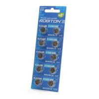 Дисковые батарейки для часов Robiton AG10, LR1130, Zn-MnO2, 10шт