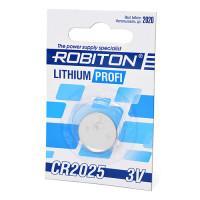 Дисковая литиевая батарейка Robiton CR2025, Li-MnO2, 1шт