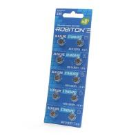 Дисковые батарейки для часов Robiton AG11, LR721, Zn-MnO2, 10шт
