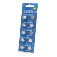 Дисковые батарейки для часов Robiton AG8, LR1120, Zn-MnO2, 10шт