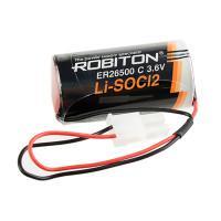 Специальная литиевая батарейка Robiton Li-SOCl2 ER 26500-55572P C 9000мАч 3.6В с коннектором 5557-2P