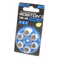 Батарейки для слуховых аппаратов Robiton 675 PR44 6шт Япония
