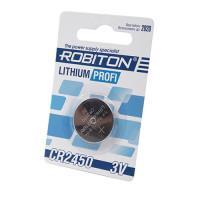 Дисковая литиевая батарейка Robiton CR2450, Li-MnO2, 1шт