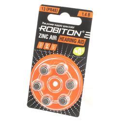 Батарейки для слуховых аппаратов Robiton 13 PR48 6шт Япония