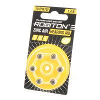 Батарейки для слуховых аппаратов Robiton 10 PR70 6шт Япония