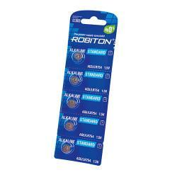 Щелочные дисковые батарейки Robiton AG5 LR754 393 1,5В для часов 5шт