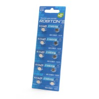 Дисковые батарейки для часов Robiton AG1, LR621, Zn-MnO2, 10шт