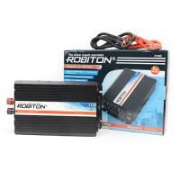 Инвертор преобразователь напряжения автомобильный 12-220В ROBITON R1000 1000Вт модифицированный синус выход 2 розетки и 1 USB