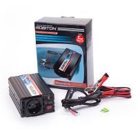 Инвертор преобразователь напряжения автомобильный 12-220В ROBITON R300 300Вт модифицированный синус выход 1 розетка и USB